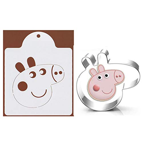 WOTOY Pig Cookie Cutter with Printing - Stainless Steel]()
