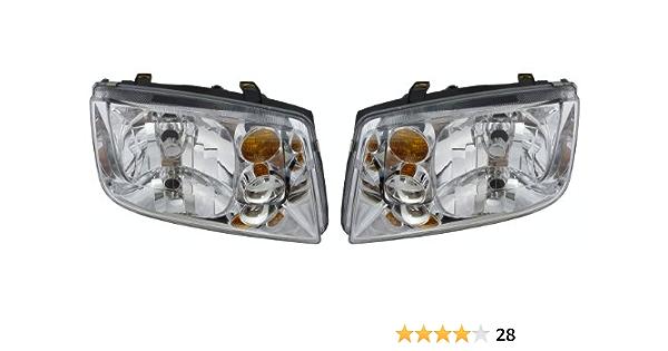 Headlights Set fits 02-05 VW Generation 4 Jetta Halogen Headlamps w// Fog Lamps