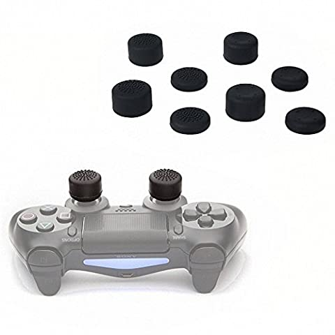 MSpark Silicone Joystick Thumbstick Analog Controller Caps Thumb Stick Gamepad For PS3 PS4 - 8 Pairs/16 (Ps4 Extender Thumb Sticks)