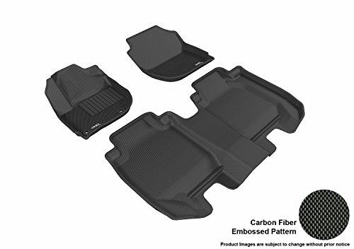 3D MAXpider Complete Set Custom Fit All-Weather Floor Mat for Select Honda HR-V Models - Kagu Rubber (Black)