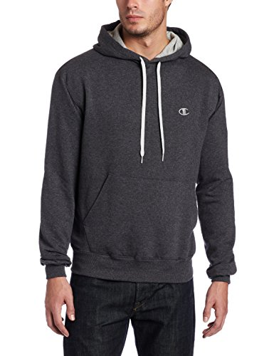 Champion Men's Pullover Eco Fleece Hoodie, Granite Heather, X-Large