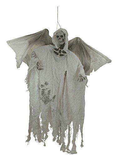 7 Halloween Spooky Décor Animated Bloody Flying Winged Reaper Prop [85331]]()