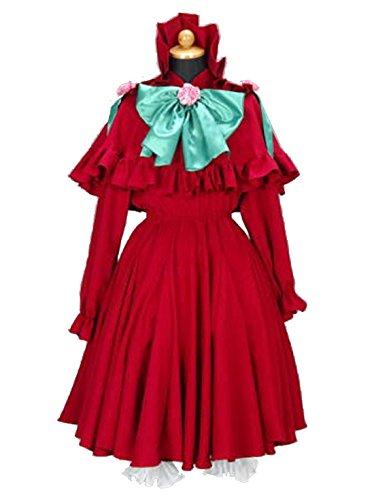 [Women's cos082Rozen maiden Red Gothic Lolita (XXS)] (Gothic Maiden Costumes)