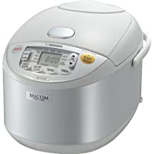 Zojirushi NS-YAC18 Umami Micom Rice Cooker and Warmer, 10 Cup (Pearl White)