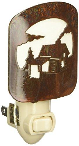 Thirstystone BNLLCSCNHP Laz NL Log Cabin Scene Nightlight HP, Honey (Rustic Night Light)