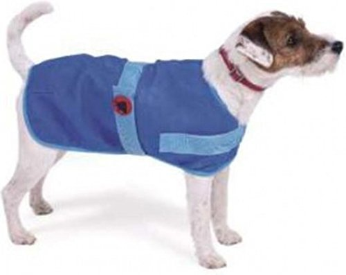 Petface Cooling Cool Summer Dog Coat Puppy Vest Jacket 30cm Heat/Travel | Blue