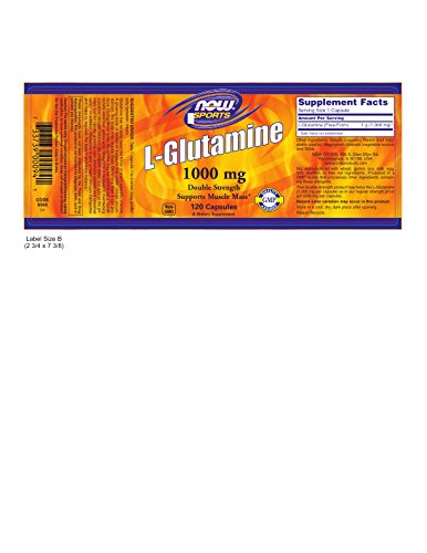 NOW L-Glutamine 1,000 mg, 120 Capsules