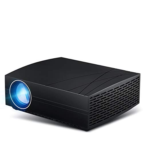JackeyLove HD Mini Projector, Support 1080P Full HD, Compatible with SDTV/EDTV/HDTV, NTSC, PAL/SECAM, Android 6.0 Home Theater ()