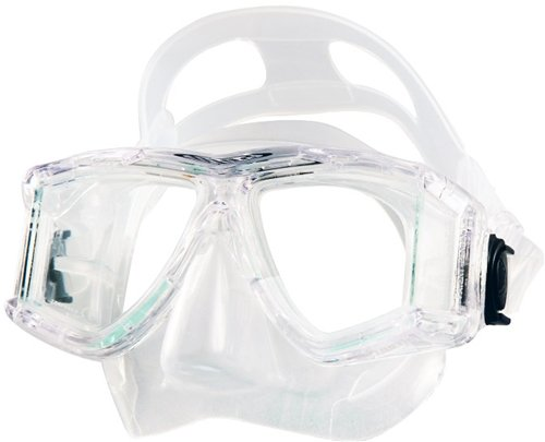 Tilos Panoramic, Scuba Diving Snorkeling Double Lens Mask (Clear) - Edge Panoramic Low Mask