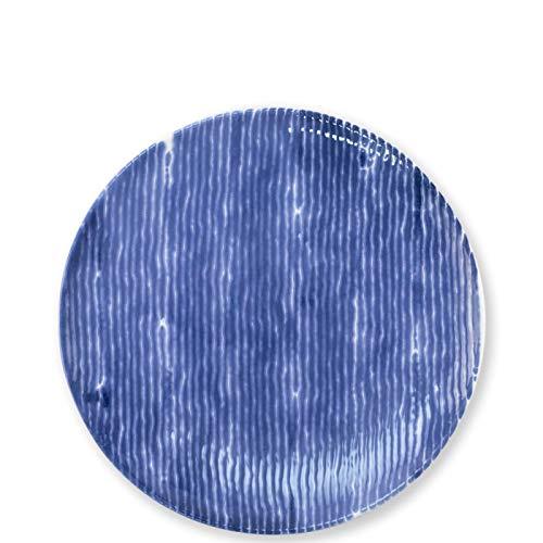 Santorini Stripe - Viva Santorini Stripe Salad Plate
