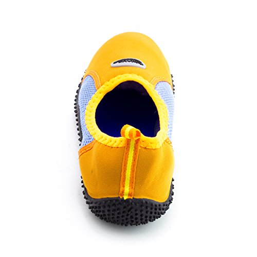 Femmes En Plein Air Plage Piscine Creek Aqua Chaussures Deau (adultes) Orange / Ciel-9