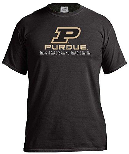 NCAA Purdue Boilermakers Basketball Energy Short Sleeve Comfort Color Tee, Medium,Black -