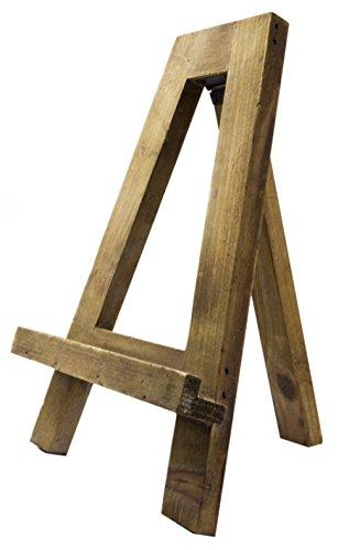 Reclaimed Wood Tabletop Tripod A-Frame Easel, 13