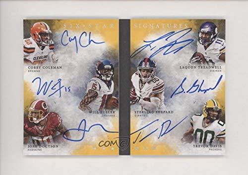 Sterling Shepard; Trevor Davis; Corey Coleman; Josh Doctson; Laquon Treadwell; Will Fuller V #3/5 (Football Card) 2016 Panini Origins - Six-Star Signatures Booklets - Gold #SX-WRS from Panini Origins