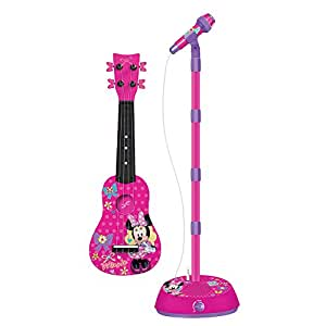 disney minnie mouse ukulele mo378 by first act musical instruments. Black Bedroom Furniture Sets. Home Design Ideas