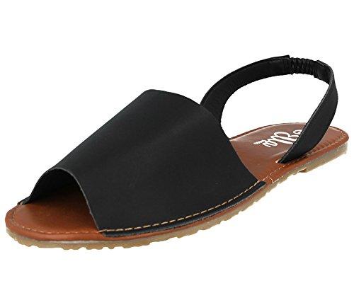 Sandales Black pour Femme PU Ella HF7vqFA
