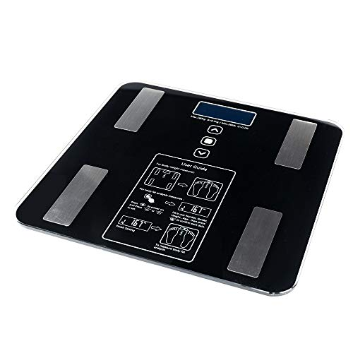 BF1606-B 180kg/100g Digital Body Fat Scale Health Analyser Fat Muscle BMI Black by fikole (Image #1)
