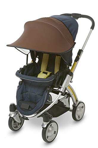 Manito Sun Shade for Strollers and Car Seats UPF 50+ (Chocolate)