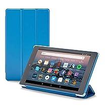 NuPro Funda con soporte y tres posiciones de pliegue para el tablet Fire HD 8, color azul