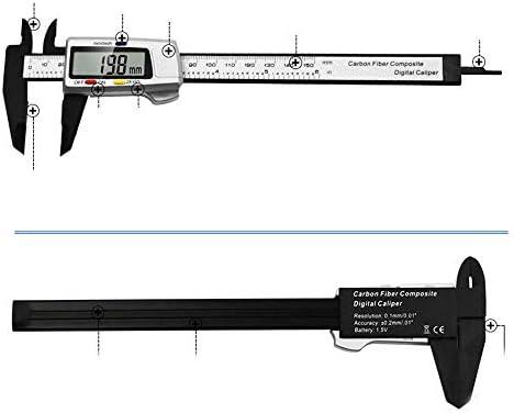YISUNF Measuring Gauge, Plastic Electronic Vernier Caliper 0-150mm Three-color Button Digital Display Vernier Caliper (Size : 0-150mm)