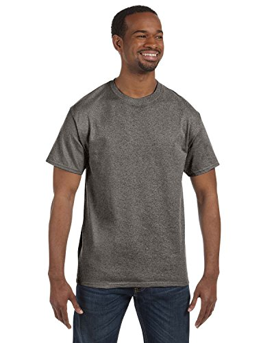 Dark Heather Ultra Cotton - Gildan Men's Ultra Cotton T-Shirt, Graphite Heather, S (Pack of 5)