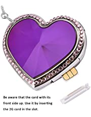 Children GPS Tracker Positioning SOS Anti-Lost Pendant 925 Silver Necklace Mini Real Time Micro Tracking GPS Locator Tracker for Kids Baby,Purple