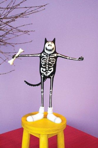 Patience Brewster Boney Cat Skeleton Figure - Krinkles Halloween Décor New (Patience Brewster Halloween Krinkles)