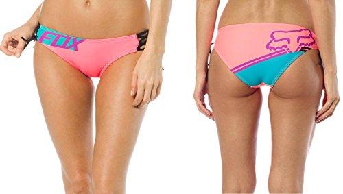 Fox Racing Women's Firing Lace Up Side Tie Bikini Bottom-Small Berry - Racing Wear Fox