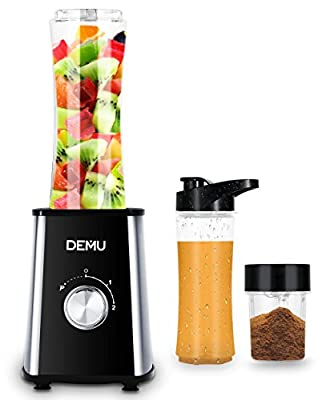 DEMU Personal 2-Speed Bullet Smoothie Blender Nutrient & Vitamin Extraction with Grinder Cup and Sport Bottles