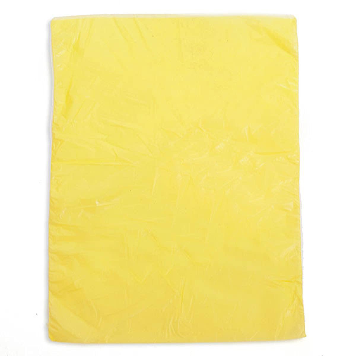 고밀도 비닐 봉투 노란색 8.5W X11H 인치-많은 1000