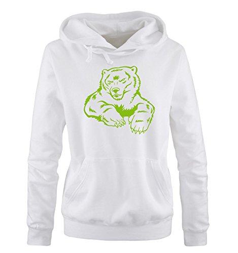 Ii Hoodie Verde Sweater Xl Bianco Comedy Donna Bear Shirts Taglia S Cappuccio Polar 1SnnH0tWX