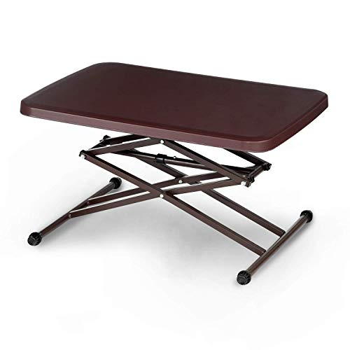 Supreme Scissor Height Adjustable Multi Purpose Plastic Table for Study, Dining & Outdoor (Globus Brown) Price & Reviews