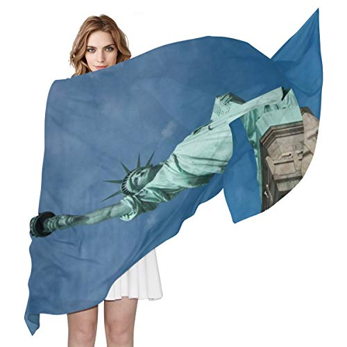 Women Silk Scarf Statue Of Liberty National Monument Personalized for Women Vacation Winter - Liberty Scarves Silk