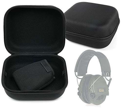 DURAGADGET Matte Black Tough EVA Storage Case with Carry Handle - Suitable for use with MSA Sordin Supreme Pro Neckband
