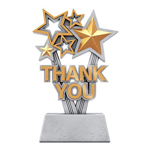 Decade Awards Thank You Trophy - Sponsor Appreciation Award - 6 Inch Tall - Engraved Plate on Request