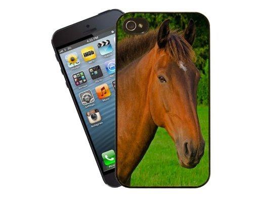 Eclipse idées cadeau beau cheval baie–Cadeau idéal pour un amateur d'équitation ou poney–Housse étui pour iPhone 4/4S