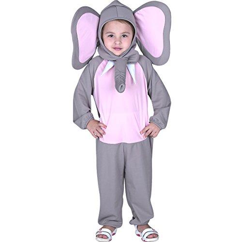 Fantasia Elefante Infantil Sulamericana Fantasias Cinza/Rosa P-3 Anos