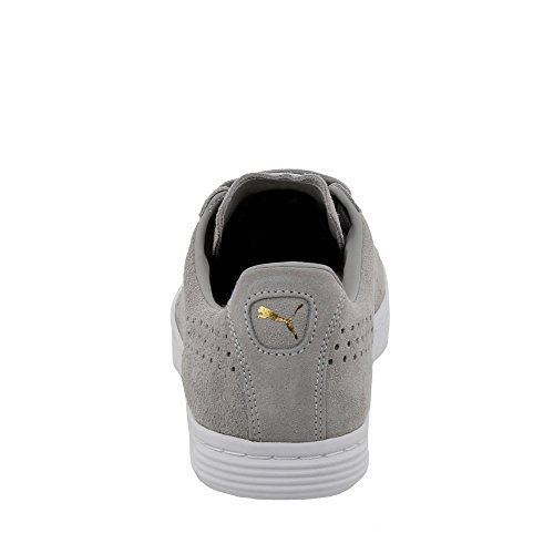Puma Court Star SD Suede Sneaker Men Trainers black 364581 01 Drizzle-Puma White-Gold
