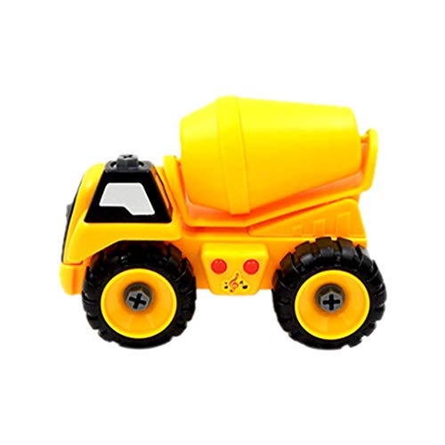 AMOFINY Toys Children's Detachable Construction Vehicle 3333 1Pc Fashion Kids Child Baby Disassembly Assembly Cartoon Truck Car Toy