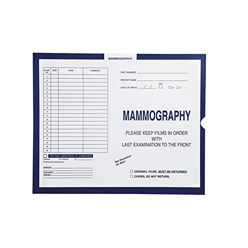 Mammography, Dark Blue #287 - Category Insert Jackets, System I, Open End - 14-1/4'' x 17-1/2'' (Carton of 250)