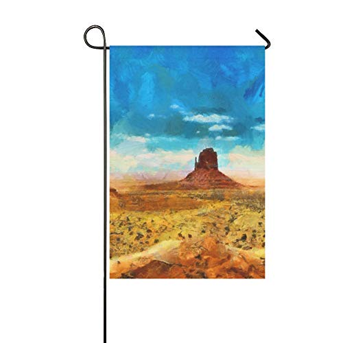 YUMOING Home Decorative Outdoor Double Sided Colorful Art Oil Painting Scenic Garden Flag House Yard Flag Garden Yard Decorations Seasonal Welcome Outdoor Flag 12x18in Spring Summer Gift ()