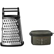 KitchenAid Gourmet Stainless Steel Box Grater, Black