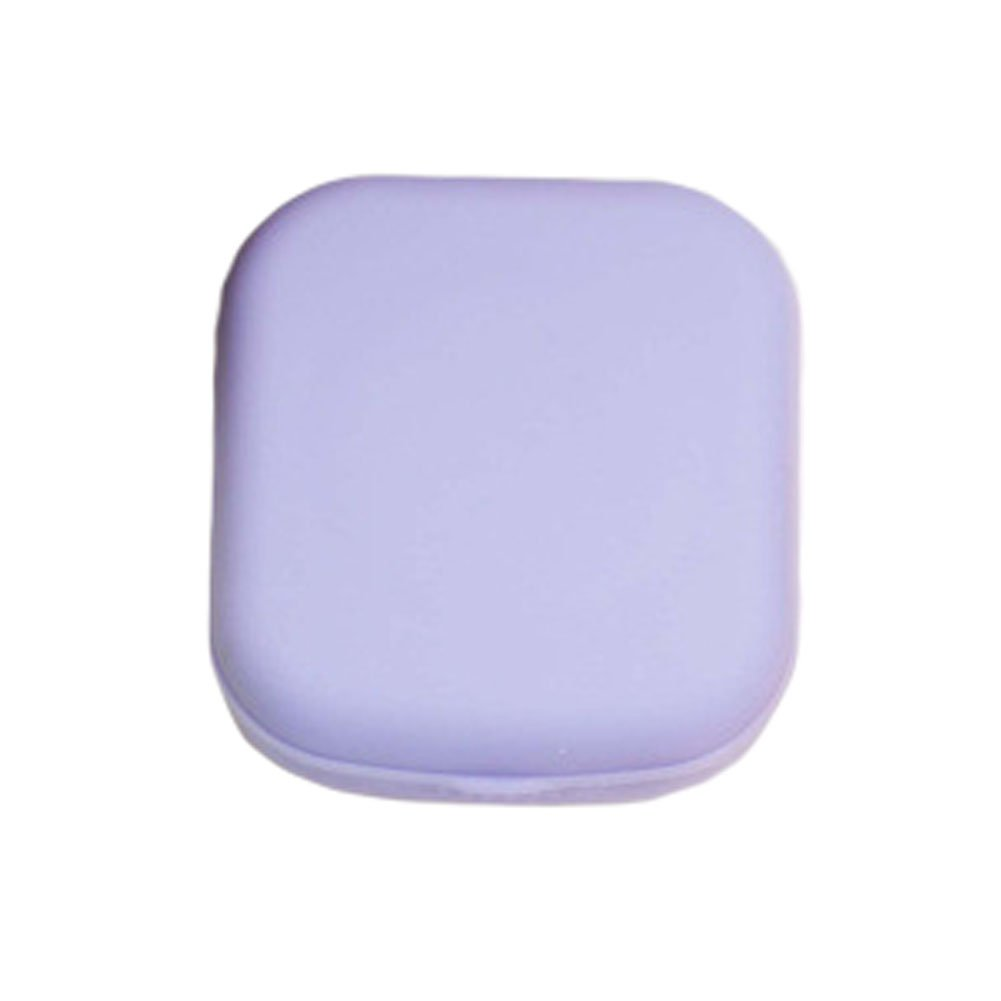 Set of 2 Eye Care Contact Lens Case Holders Solution Travel Kit Cases - Purple