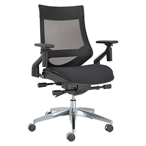 - Alera ALEEBW4213 EB-W Series Pivot Arm Multifunction Mesh Chair, Black/Aluminum Frame