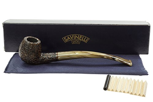 Savinelli Ginger's Favorite 626 Churchwarden Pipe - Rustic by Savinelli