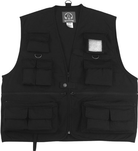 Black Fishing & Travel Vest 7531 Size Medium