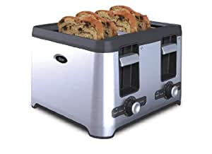 Oster 4 Slice Toaster With Retractable Cord Stainless