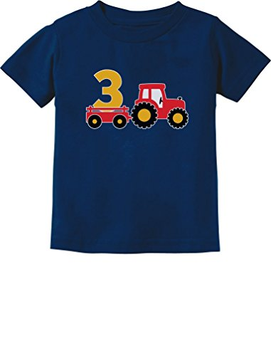 (3rd Birthday Gift Construction Party 3 Year Old Boy Toddler/Infant Kids T-Shirt 3T Navy)