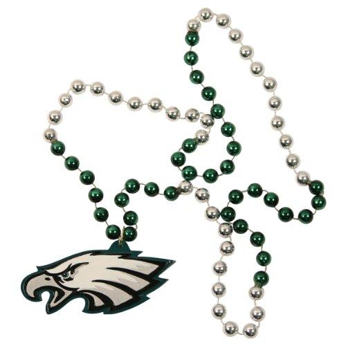 NFL 2-Tone Mardi Gras Beads with Team Medallion - Philadelphia - Medallion Tone