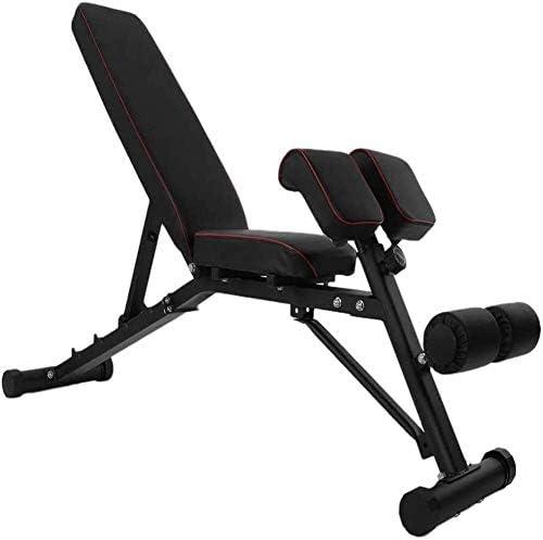 家庭用ダンベルベンチ 調整可能なダンベルベンチ ローマ便 腹部仰向けの椅子 超拡張可能なエクササイズベンチ 腹部用腹部ベンチ トレーニングベンチ ホームジムに適しています